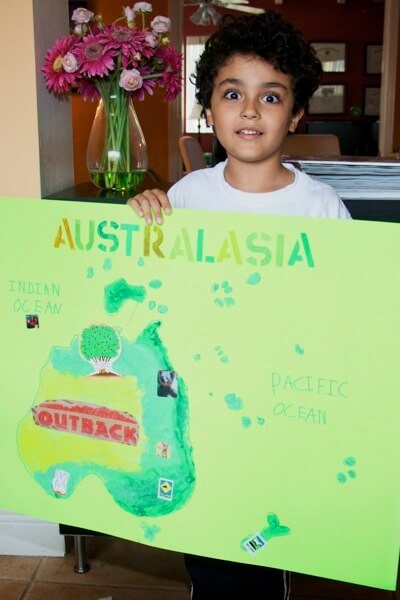 Happy to have finished his Australia Oceania poster