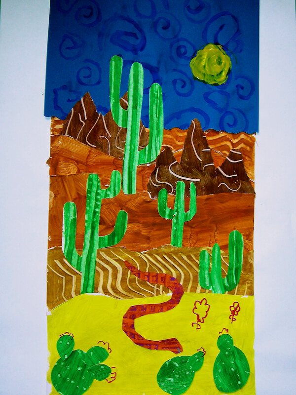 Desert Collage Art