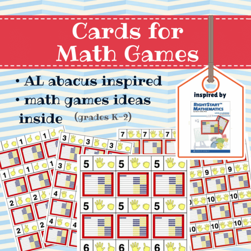 free printable cards for math games k-2