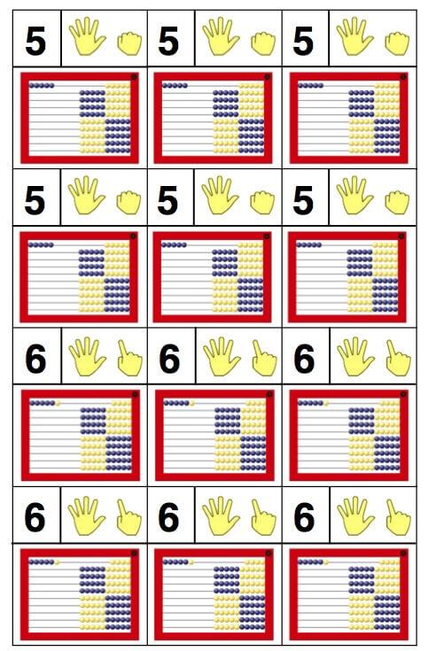 free printable number cards 1-10