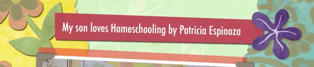 My son loves Homeschooling by Patricia Espinoza