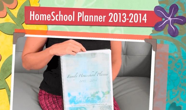 Homeschool Planner 2013 2014 PDF Video Walk-Through
