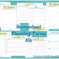 printable homeschool planning forms kit