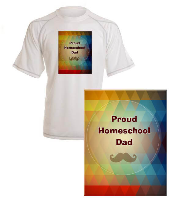 proud homeschool dad merchandise