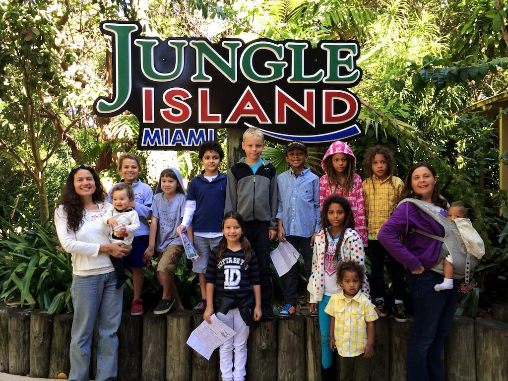 HOME homeschools field trip to Jungle Island