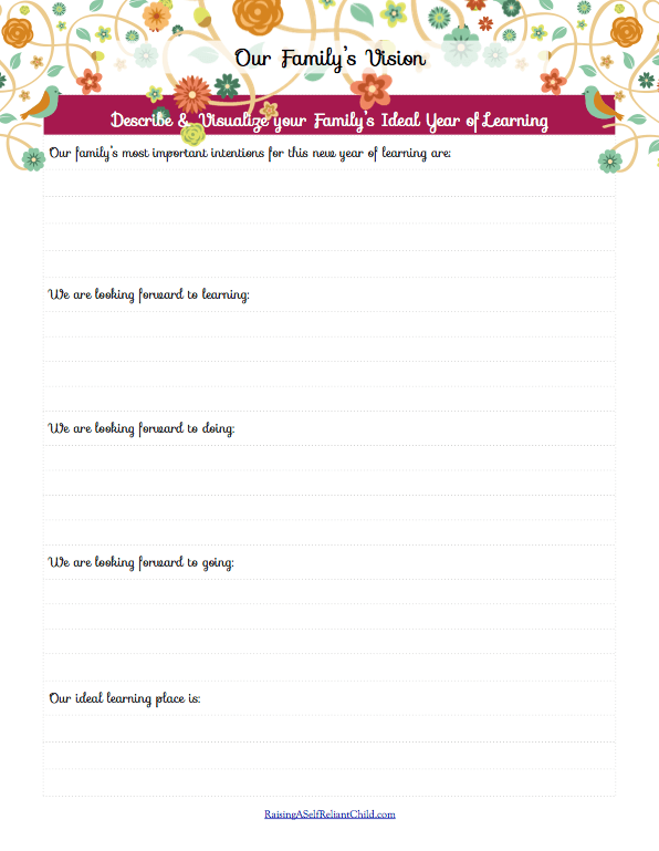 free homeschooling planner forms