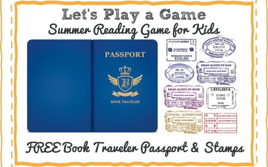 Free Children's Summer Reading Game Book Traveler Passport Printable