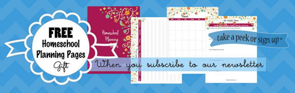 free homeschool planning pages printables