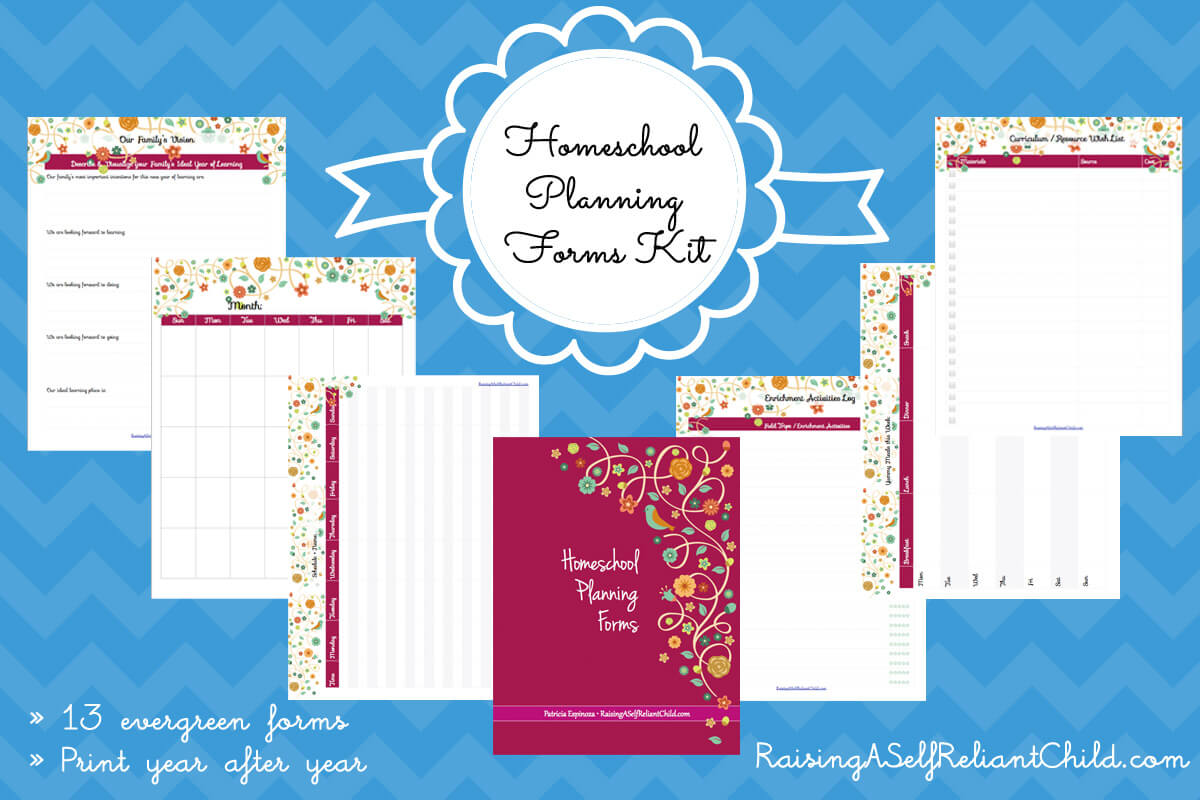 free homeschool planning pages printables gift