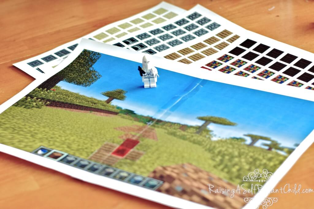 minecraft printable game piano log