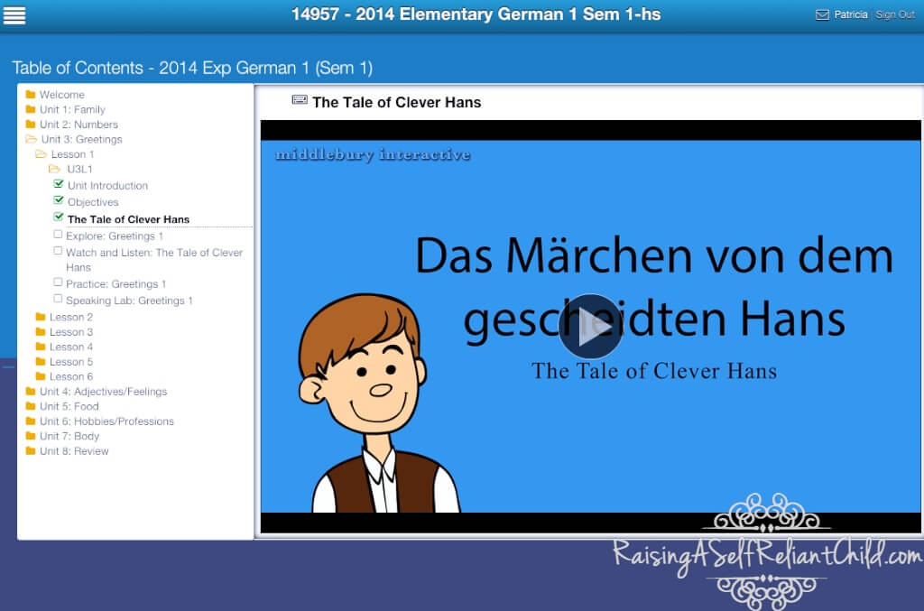 german online course for kids