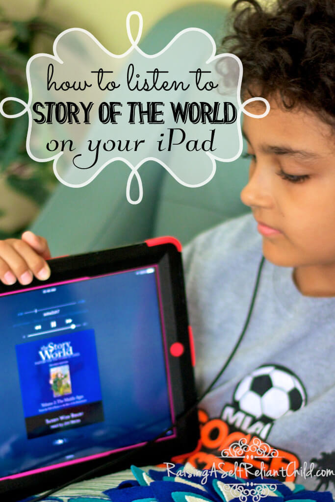 listen to story of the world audio on your iPad