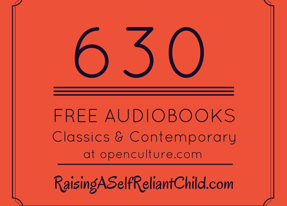 630 FREE Audio Books for Kids & Homeschooling