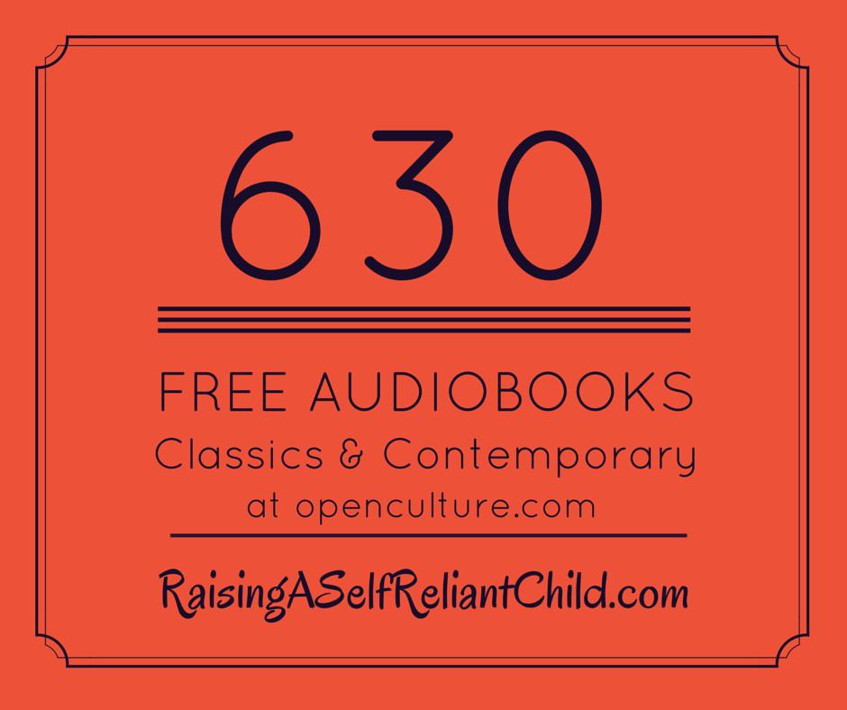 630 free audio books homeschool
