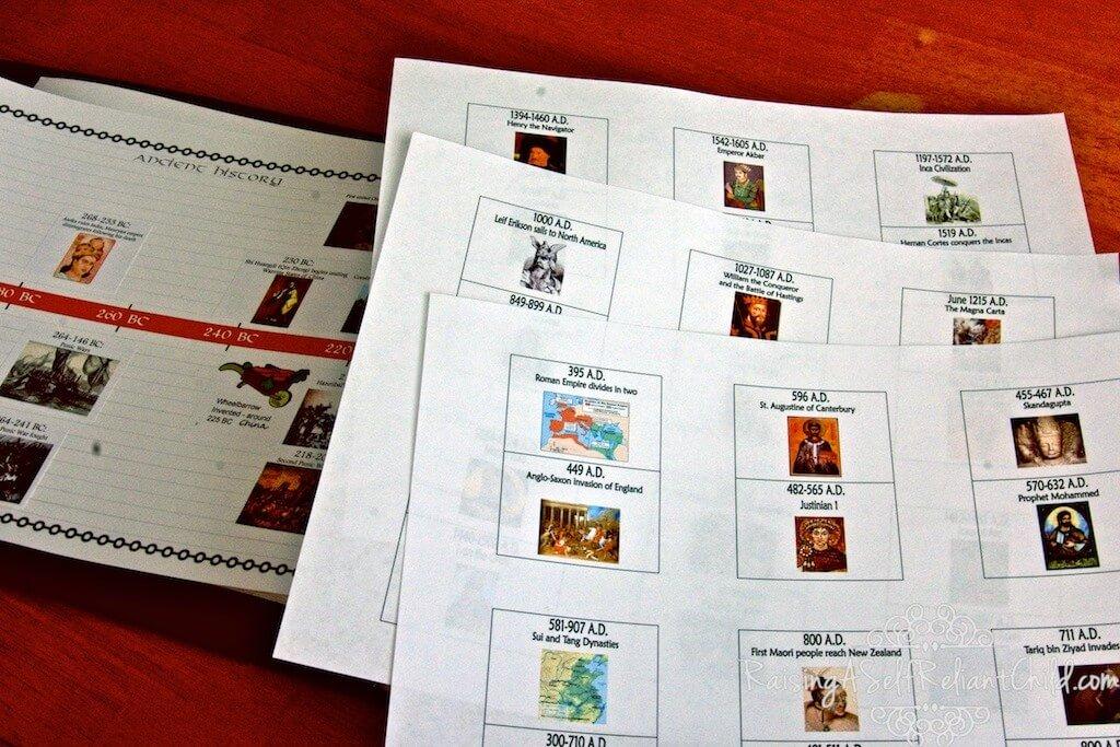 free history timeline homeschool 1