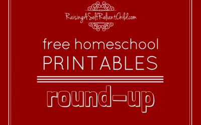 My FREE Homeschool Printables Round-Up