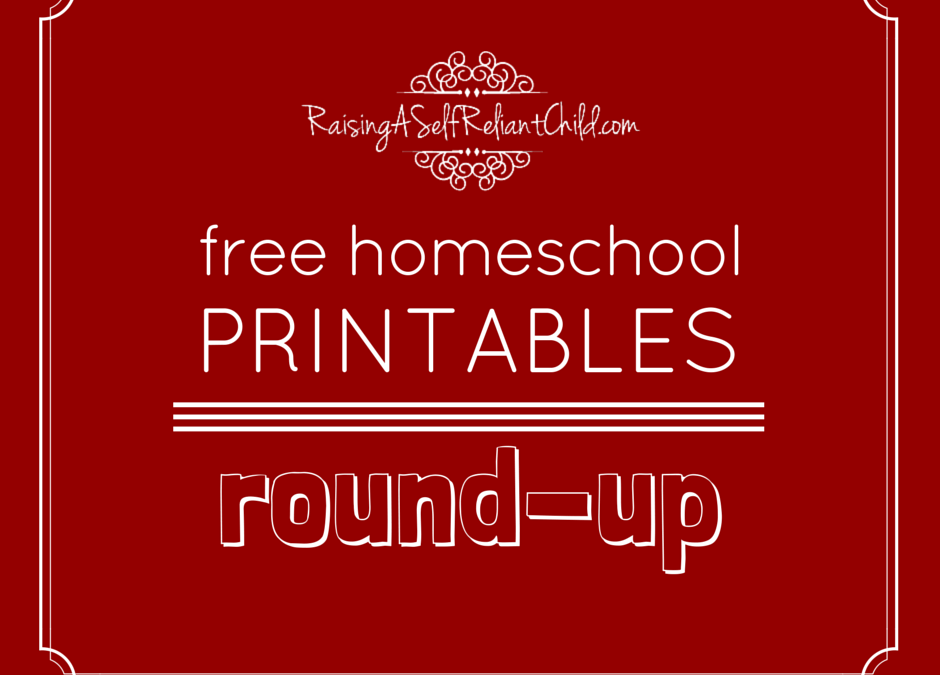 My FREE Homeschool Printables Round-Up