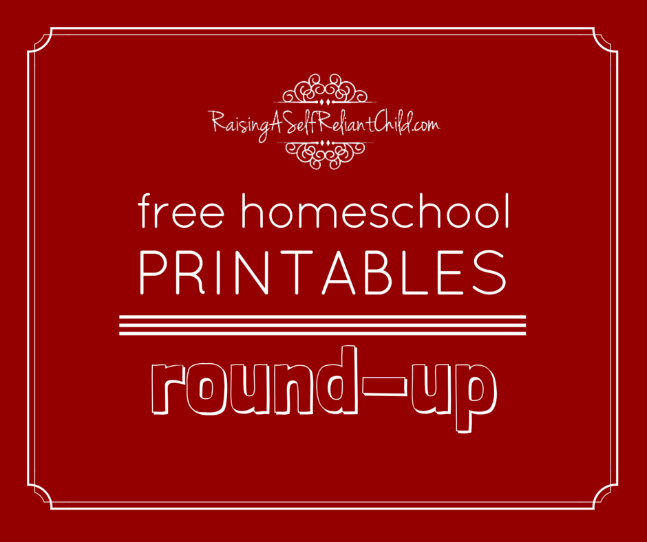free homeschool printables round up