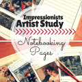 free artist study notebooking pages homeschool