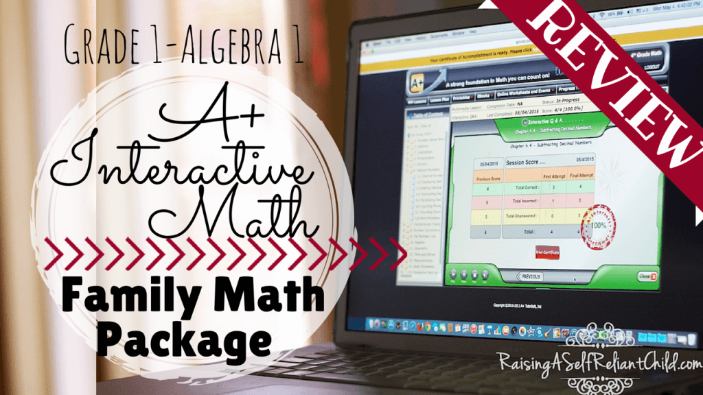 homeschool math a+interactive curriculum review