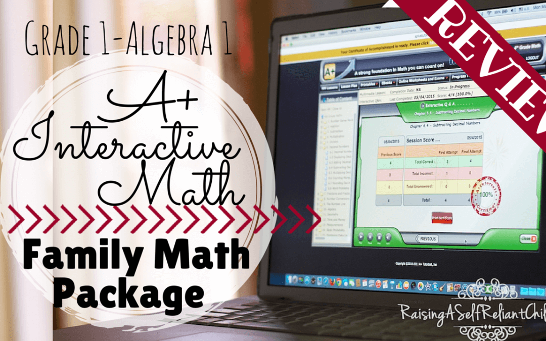 A+ Interactive Math Homeschool Curriculum Review