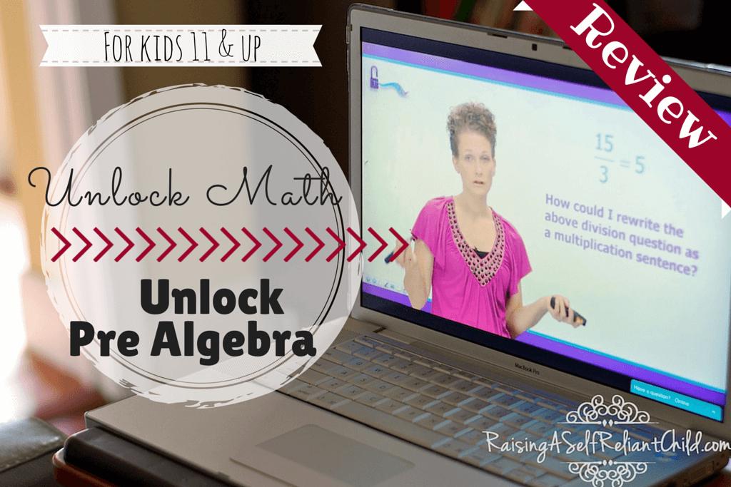 unlock math homeschool pre algebra review