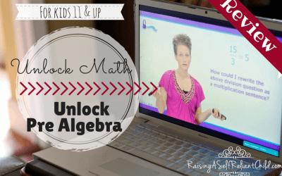 UnLock Math Review Homeschool Pre Algebra
