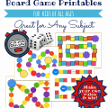 free board game printable templates