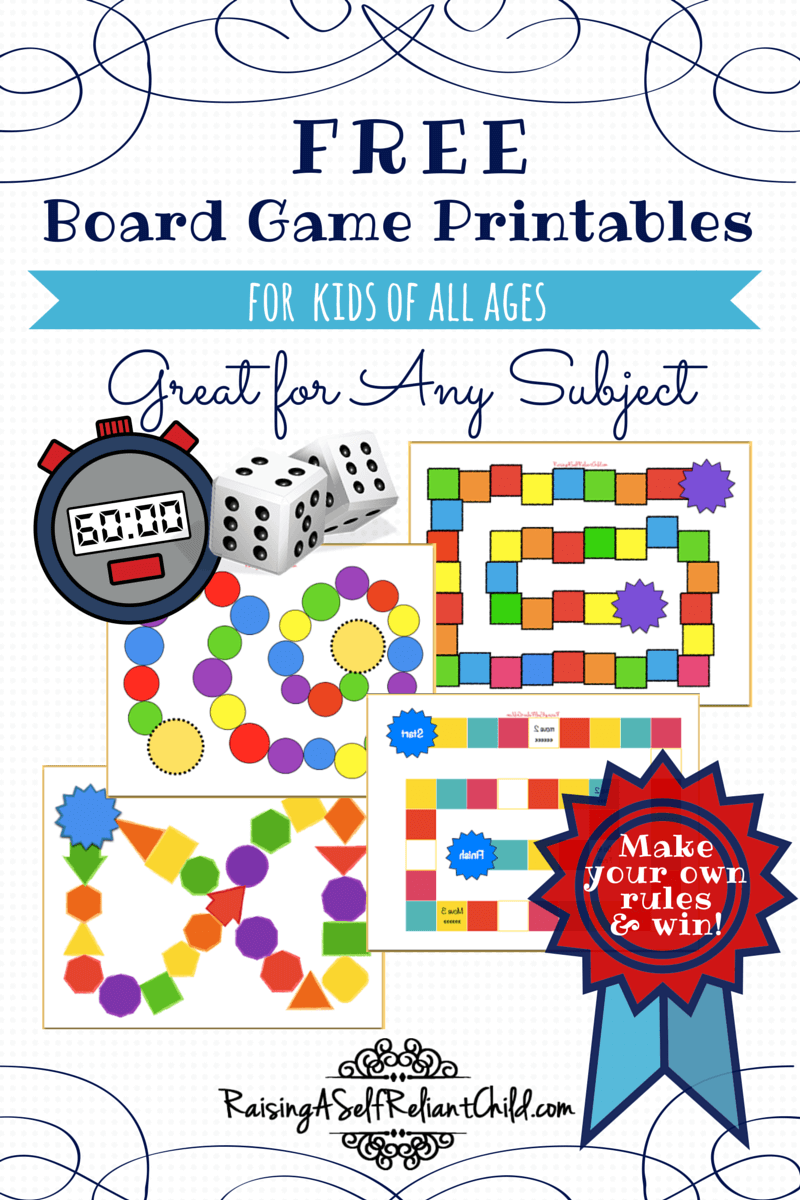 Nifty image throughout printable game boards