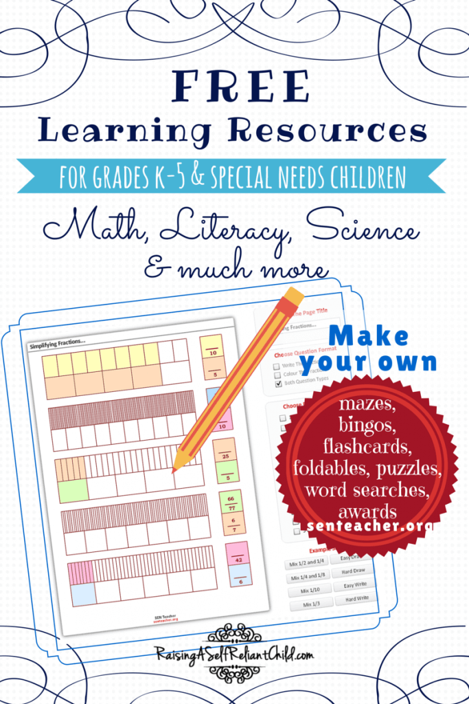 free learning resources k-5 homeschool