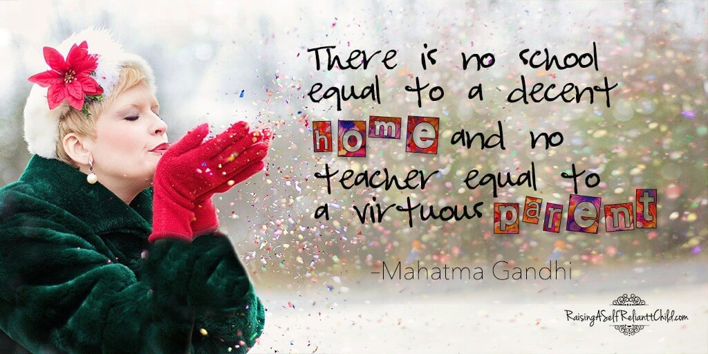 there is no school equal to a decent home