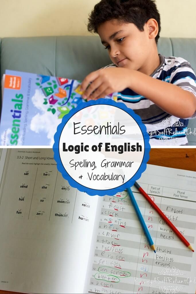 homeschool spelling grammar vocabulary 1