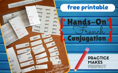 Free Printable Hands-On French Conjugation Verbs First Group