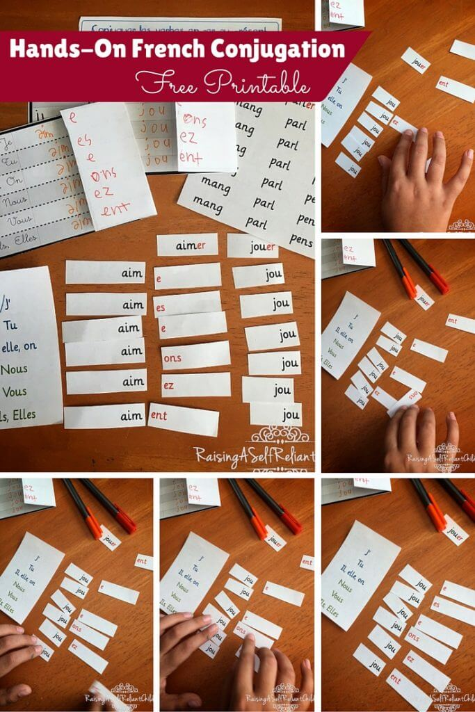 hands on french conjugation first group verbs