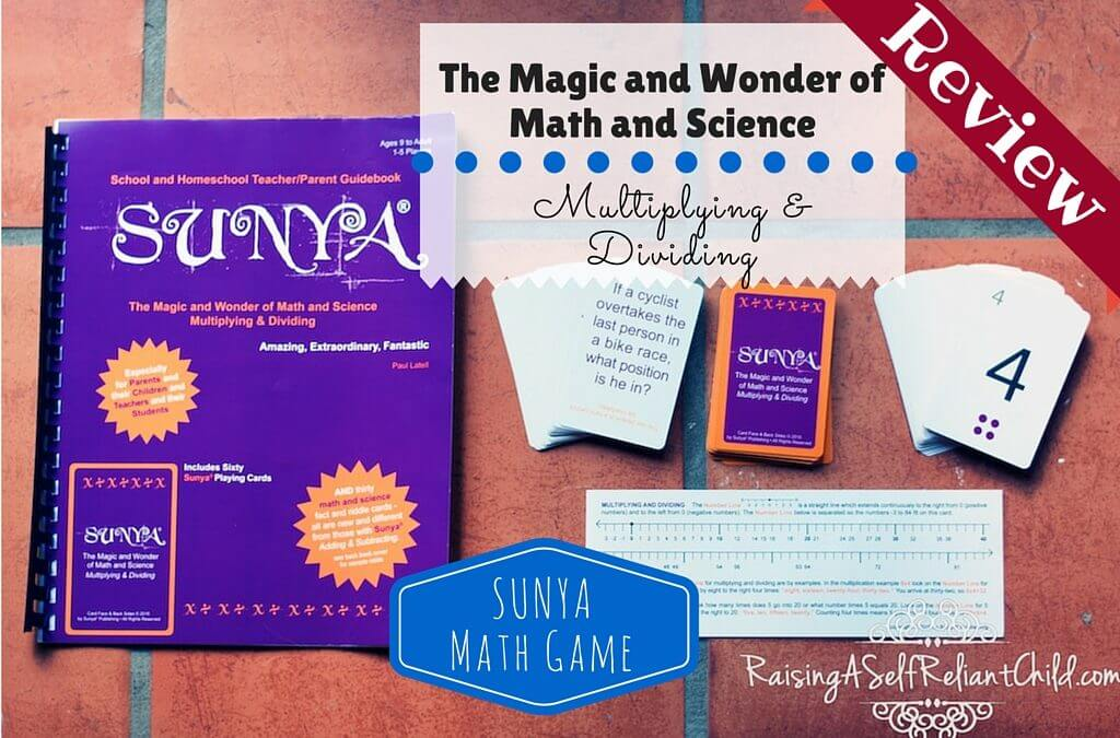 Math Game Multiplication Division Sunya Publishing Review