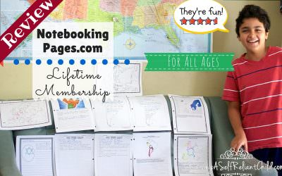 Homeschool Notebook Pages NotebookingPages.com Review
