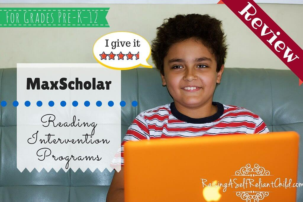 maxscholar reading intervention programs review