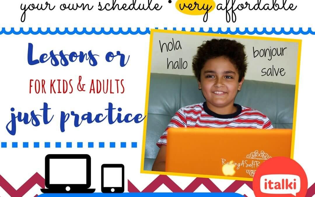 Homeschool Foreign Language Programs at Italki.com