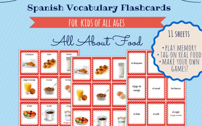 Free Printable Spanish Vocabulary Flashcards