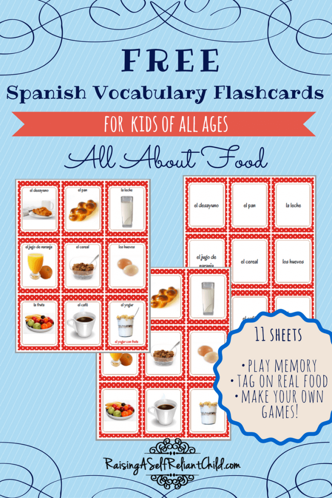 Free Food Flashcards