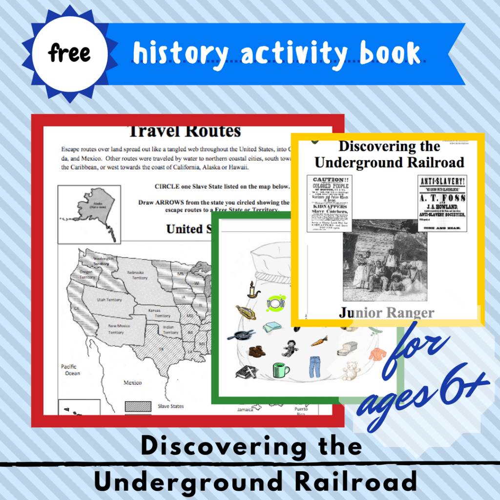 discovering the underground railroad kids homeschool free printable