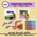 free ebook watercolor tips tricks homeschool