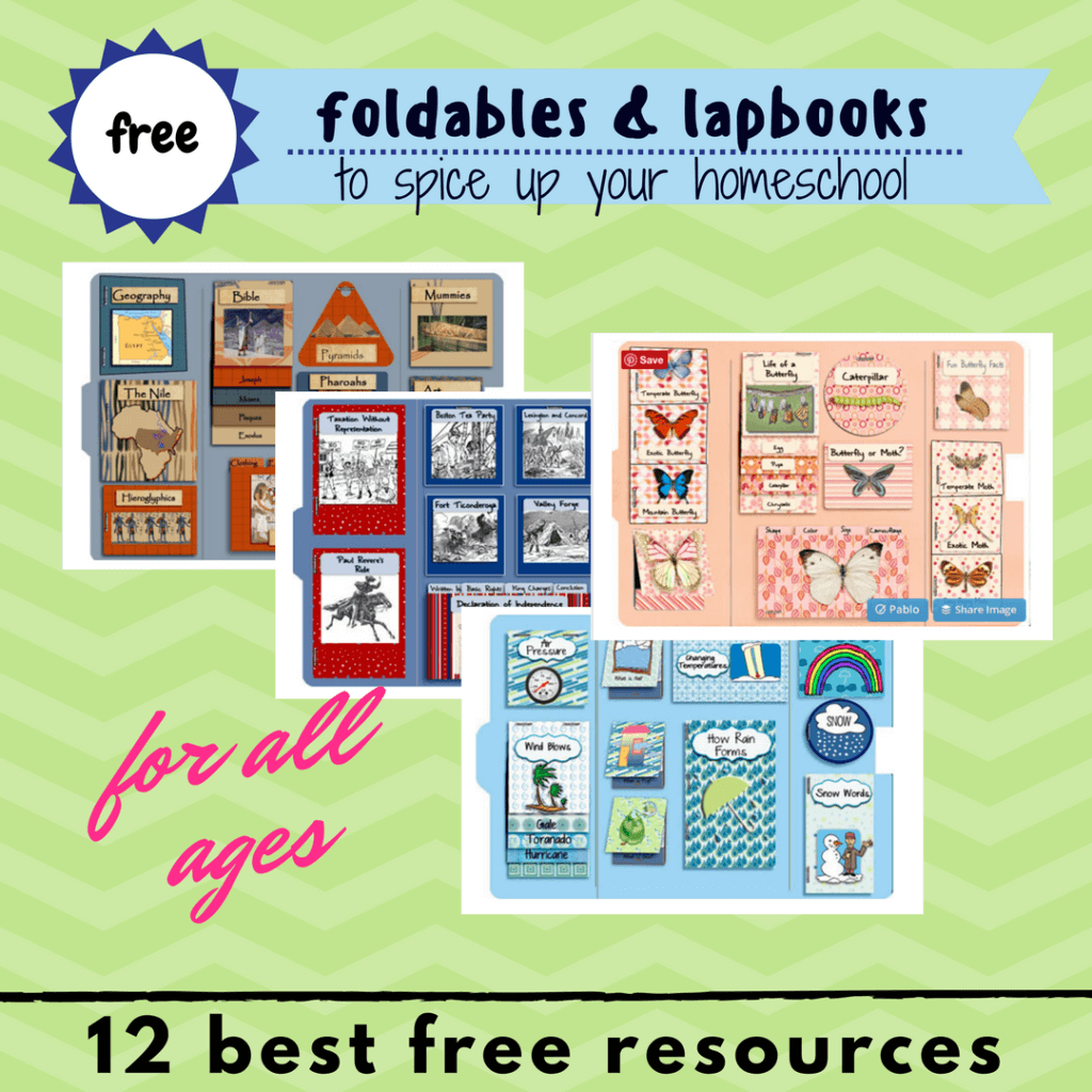 free foldables lapbooks printables