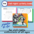 free printable civil rights activity book homeschool