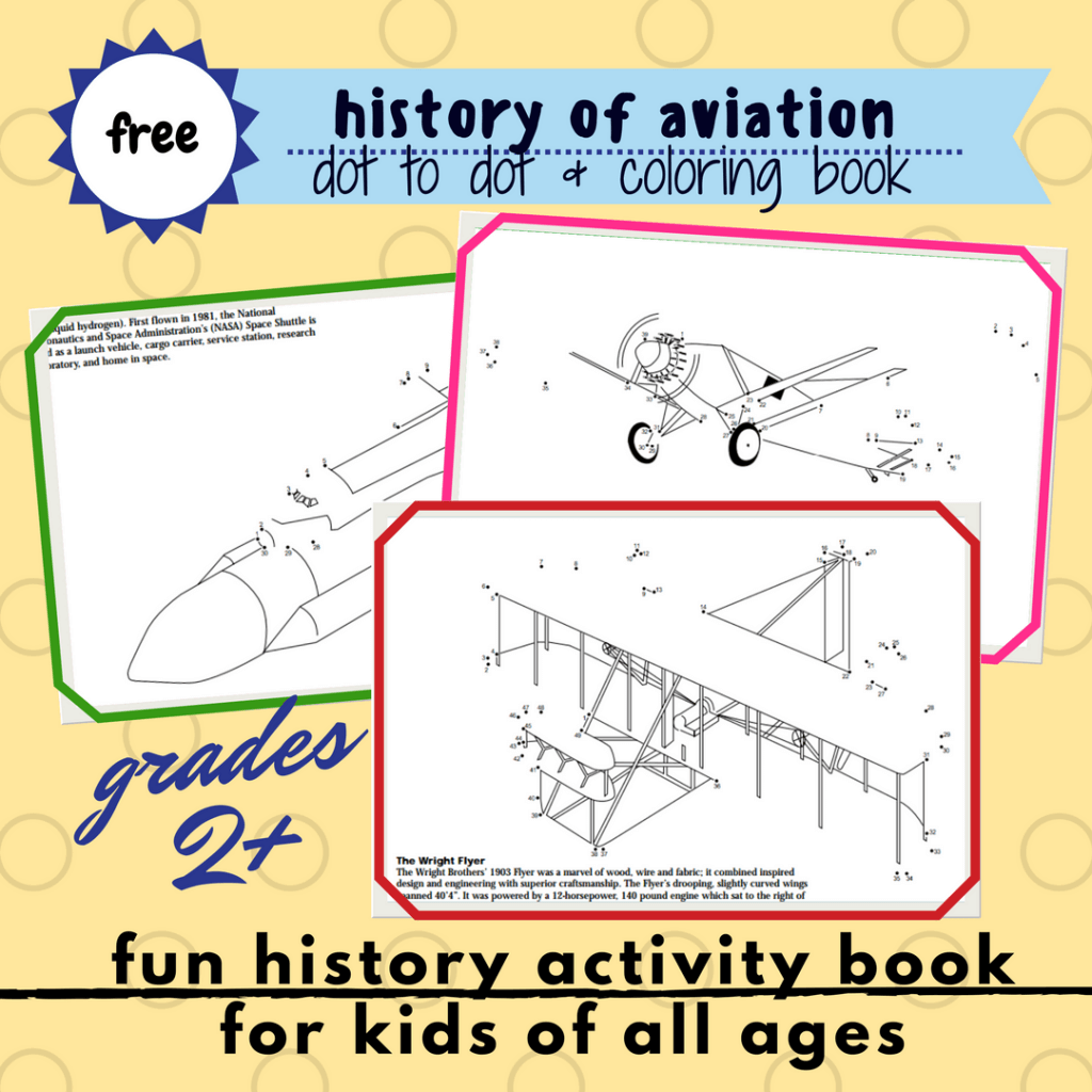 free printable aircraft in history coloring book