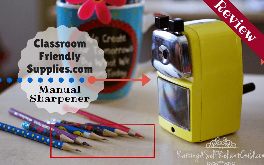 Manual Pencil Sharpener Review & Giveaway