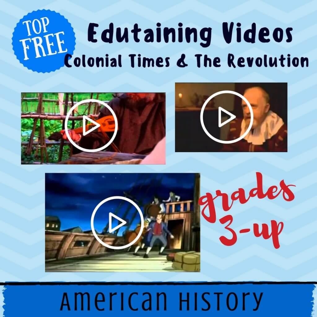 top free videos colonial america homeschool