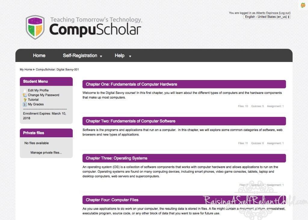 homeschool computer science course compuscholar review
