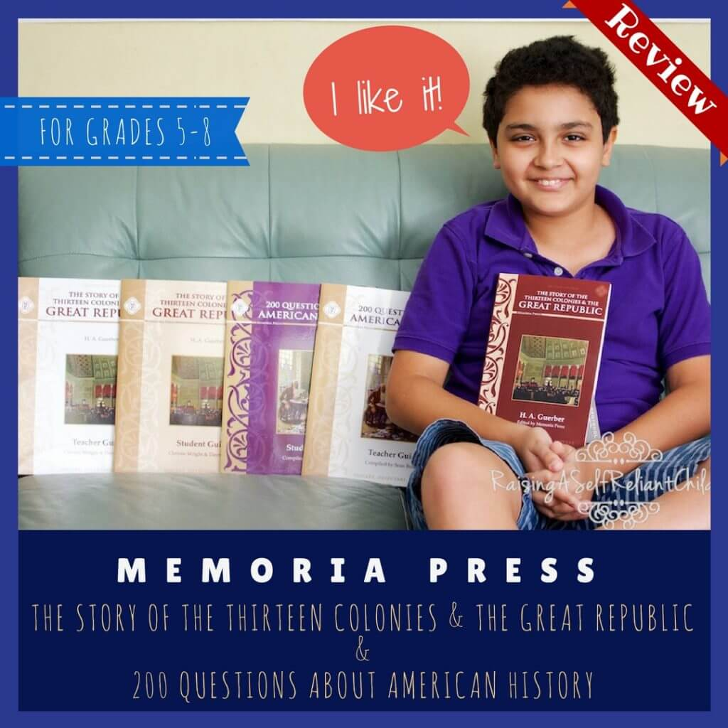 Middle School American History Curriculum Memoria Press Review