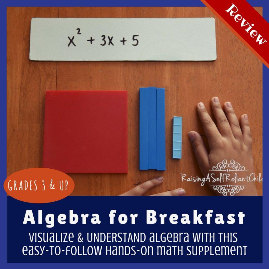math enrichment curriculum homeschool algebra for breakfast review